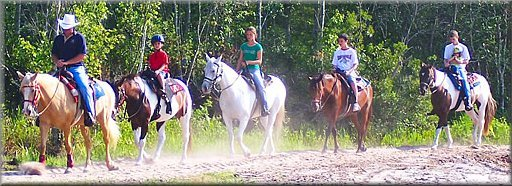 Trail Riding at Horse World, Kissimmee, Florida