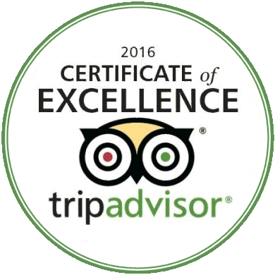 Trip Advisor Certificate of Excellence for I Want A Villa 2016, 2017 & 2018