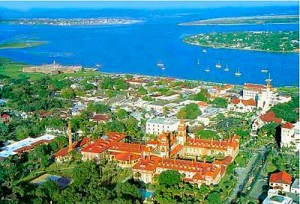 St Augustine from the air