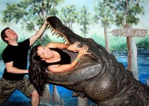 Having fun at Gatorland