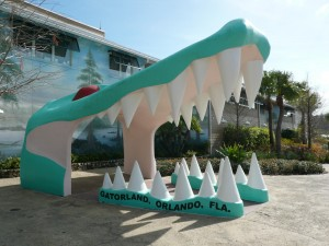 View of the iconic jaws at Gatorland