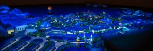 Disney Springs at night schematic