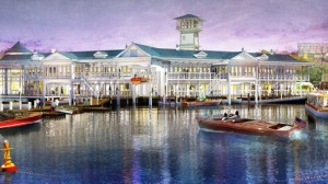 Disney Springs schematic showing waterside view