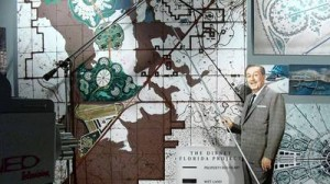 Walt Disney himself showing his plans for Disney World in Orlando