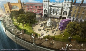 The plan for Diagon Alley at Universal Orlando