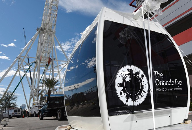 1 of the Orlando Eye Gondolas about to be fitted to the wheel