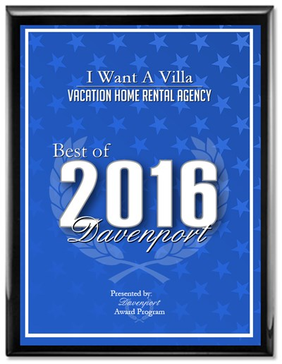 Best of 2016 Davenport Vacation Home Rental Agency awarded to I Want A Villa