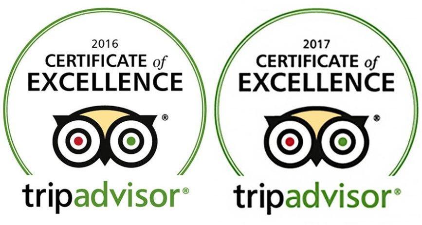 TripAdvisor Certificate of Excellence 2016 - 2017