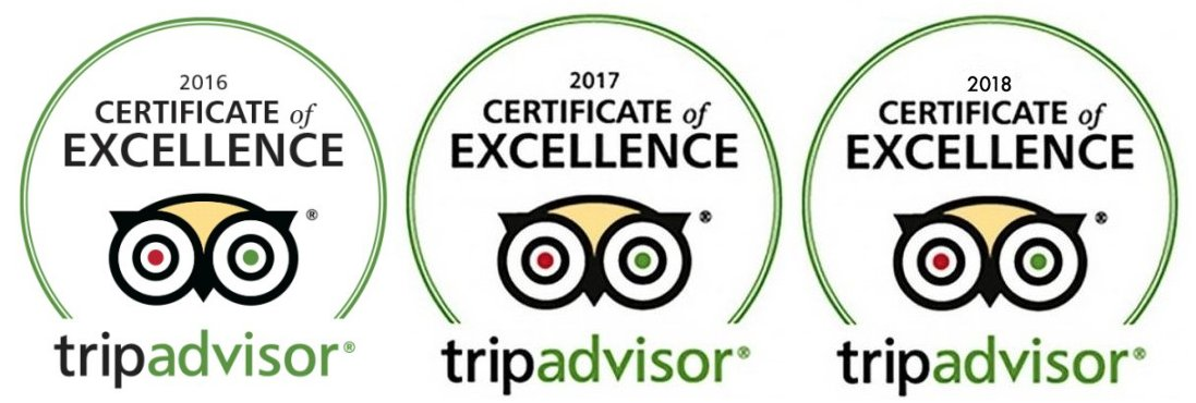 I Want A Villa are proud to receive the TripAdvisor Certificate of Excellence for 2016, 2017 & 2018
