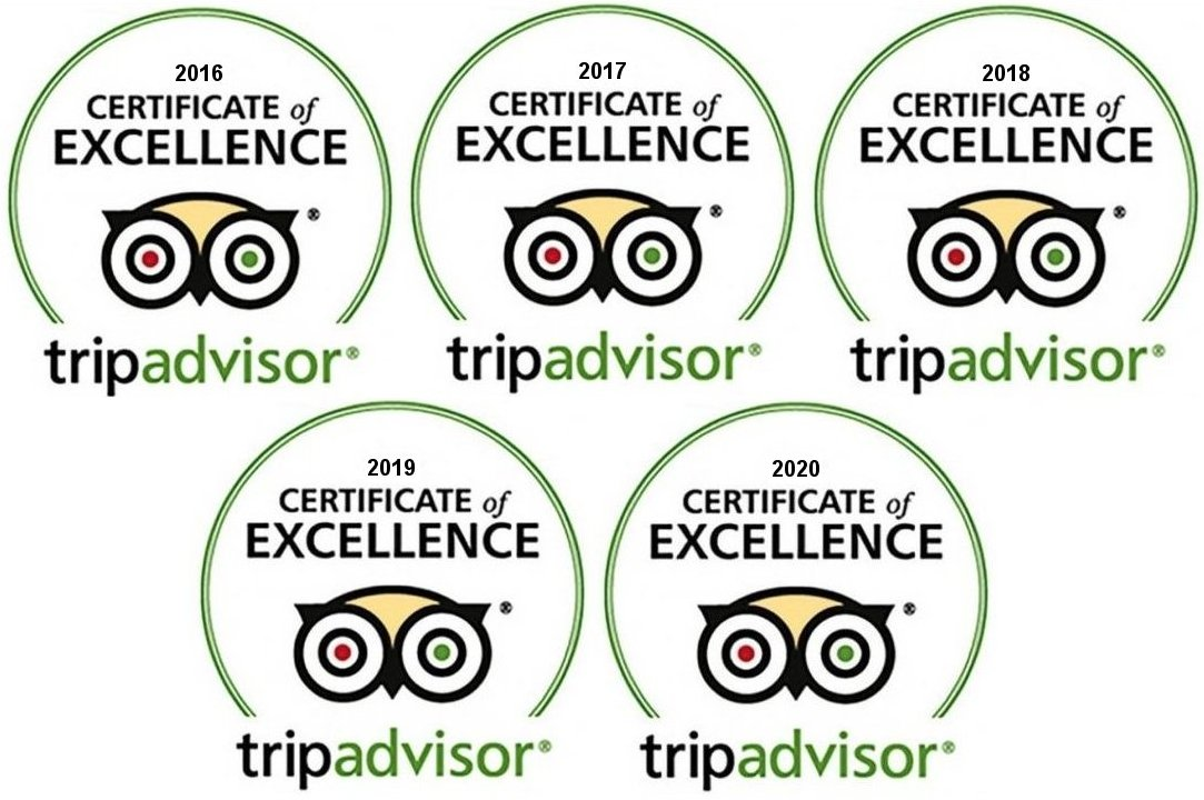I Want A Villa are proud to receive the TripAdvisor Certificate of Excellence for 2016, 2017, 2018, 2019 & 2020