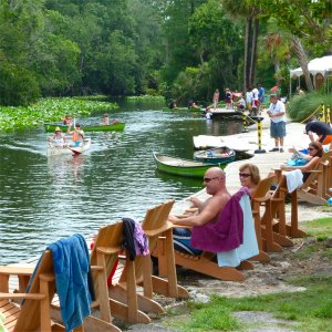 Relaxing at waters edge at Wekiva Island