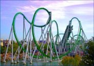 The Incredible Hulk Rollercoaster at Universal Islands of Adventure