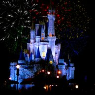 Disney Magic Kingdom fireworks over Cinderellas Castle