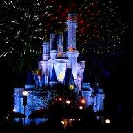 Disney Magic Kingdom fireworks over Cinderellas Castle