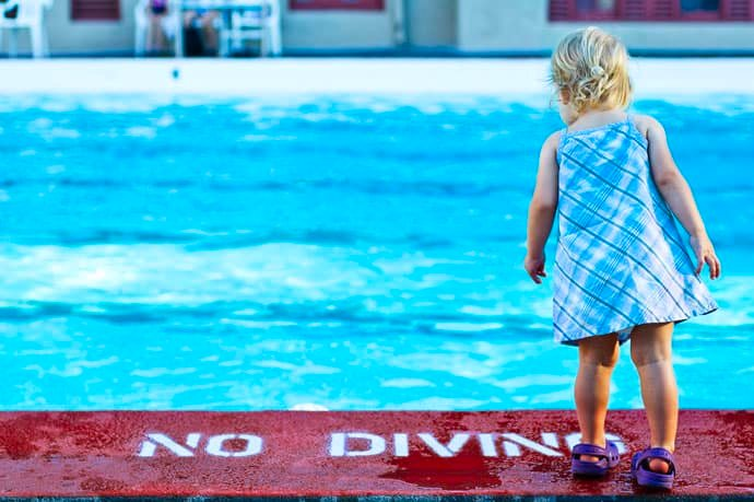 Keep children safe by the pool