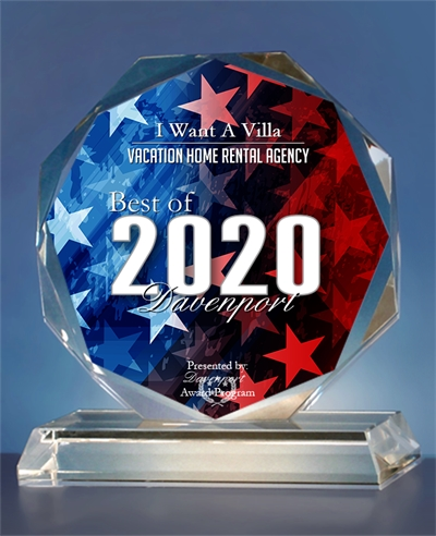 Best of 2020 Davenport Vacation Home Rental Agency awarded to I Want A Villa