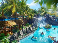 Universals Volcano Bay Waterpark lazy river
