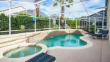 Villa rentals in Orlando, check out the Private pool and spa with hedge screening