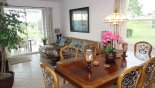 Villa rentals near Disney direct with owner, check out the Living Room/Dining Room with patio access