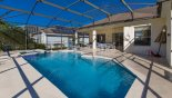 Large pool & spa with 4 sun loungers - www.iwantavilla.com is the best in Orlando vacation Villa rentals