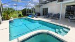 Villa rentals in Orlando, check out the Very private pool deck with 6 sun loungers