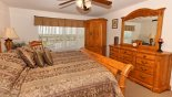 Monticello 2 Villa rental near Disney with Master bedroom with quality oak furniture & cabinet mounted cable TV