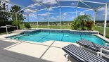 Large west facing pool & spa with spectacular elevated golf course views - www.iwantavilla.com is your first choice of Villa rentals in Orlando direct with owner