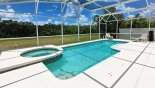Villa rentals in Orlando, check out the Heated south west facing spa & pool (28' x 12') with no villas behind - just conservation woodland