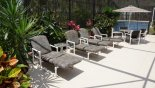 Sunny deck with 4 sun loungers - www.iwantavilla.com is your first choice of Villa rentals in Orlando direct with owner