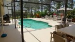 Villa rentals near Disney direct with owner, check out the Pool from covered lanai
