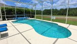 Large pool with south west facing pool deck & privacy hedges - www.iwantavilla.com is the best in Orlando vacation Villa rentals