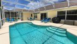 Pool deck with rental gas BBQ with this Orlando Villa for rent direct from owner