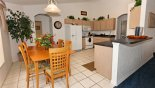 Villa rentals in Orlando, check out the Kitchen and dining area with table & 6 chairs