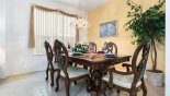 Dining area seating 6 comfortably with this Orlando Villa for rent direct from owner