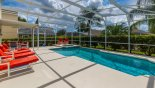 Sunny private pool deck from Birchwood 3 Villa for rent in Orlando