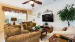Spacious rental Highlands Reserve Villa in Orlando complete with stunning Family room with 55
