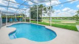 Sunny south-west facing pool  with amazing golf course views from Highlands Reserve rental Villa direct from owner
