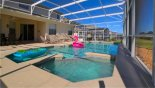Orlando Villa for rent direct from owner, check out the Pool deck with numerous sun loungers
