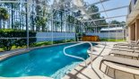 Pool deck with 6 sun loungers from Highlands Reserve rental Villa direct from owner