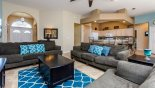 Villa rentals in Orlando, check out the Family room with ample seating to enjoy watching the 42
