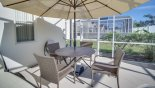 Patio dining set with parasol & 4 chairs - www.iwantavilla.com is the best in Orlando vacation Villa rentals