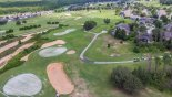 Aerial view of Highlands Reserve golf course from Highlands Reserve rental Villa direct from owner