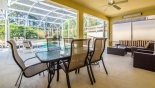 Covered lanai with patio table & 6 chairs - www.iwantavilla.com is the best in Orlando vacation Villa rentals