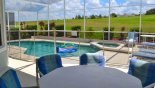 Pool with pool safety fence erected from Highlands Reserve rental Villa direct from owner