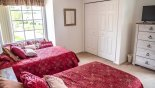 Bedroom #3 with built-in wardrobe with this Orlando Villa for rent direct from owner