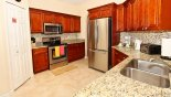 Monticello 3 Villa rental near Disney with Fully fitted kitchen with brand new cabinets & granite counter tops