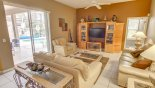 Spacious rental Highlands Reserve Villa in Orlando complete with stunning Family room with lots of seating!