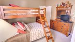 Kids love the bunk bed room! with this Orlando Villa for rent direct from owner
