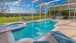 South-west facing pool deck with spectacular golf course views with this Orlando Villa for rent direct from owner