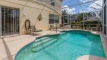 Pool deck with hoist for easy access into pool from Highlands Reserve rental Villa direct from owner
